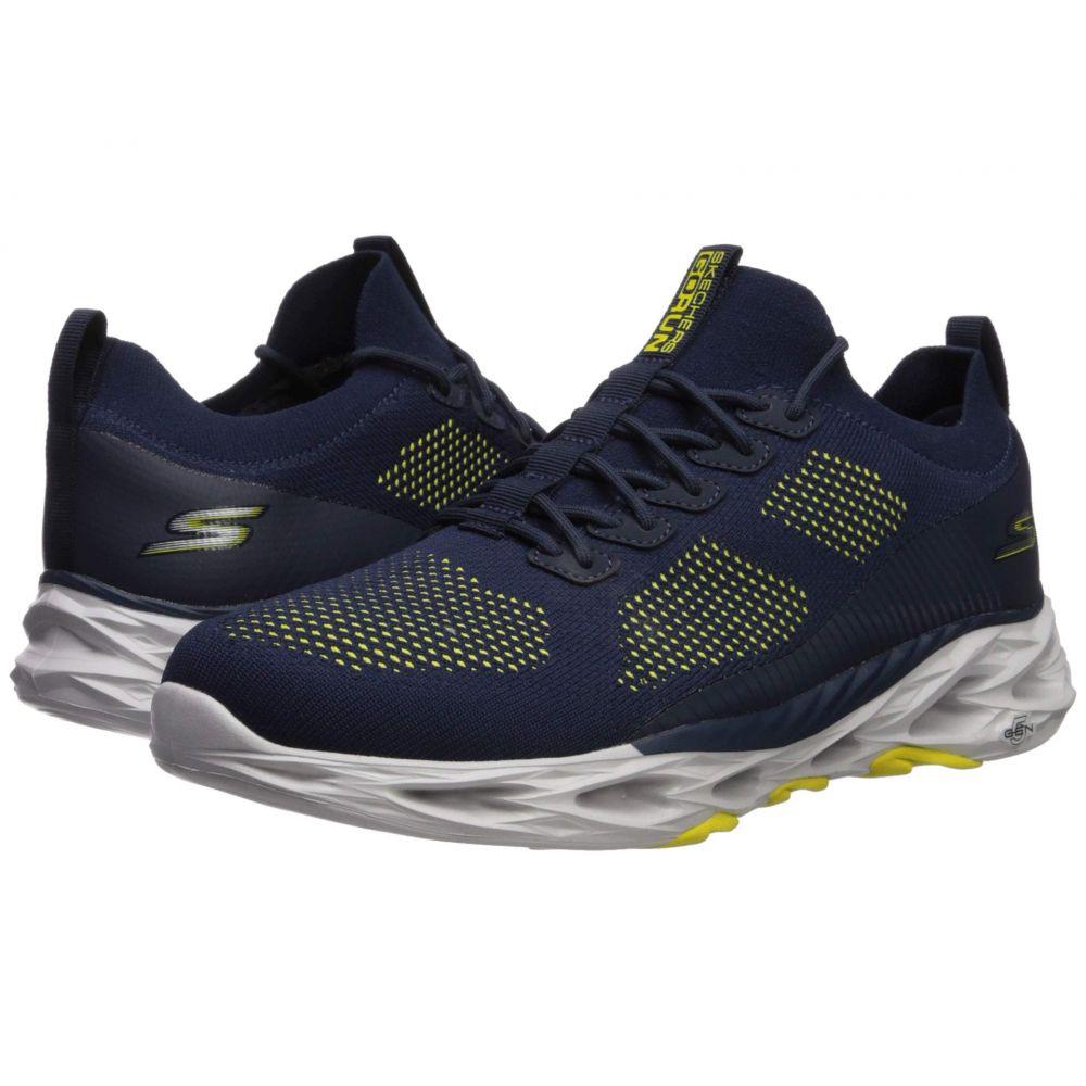 スケッチャーズ SKECHERS メンズ ランニング・ウォーキング シューズ・靴【Go Run Vortex】Navy/Yellow