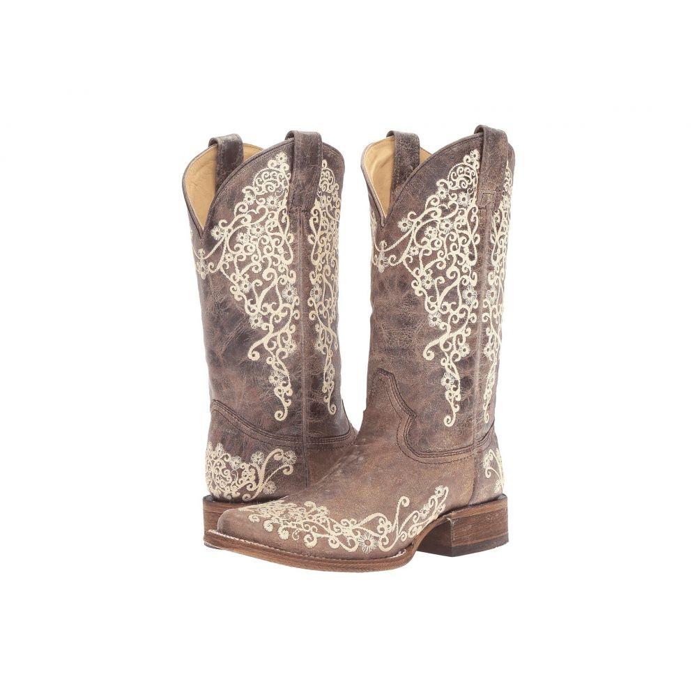 コラル Corral Boots レディース ブーツ シューズ・靴【A2663】Brown/Crater Bone