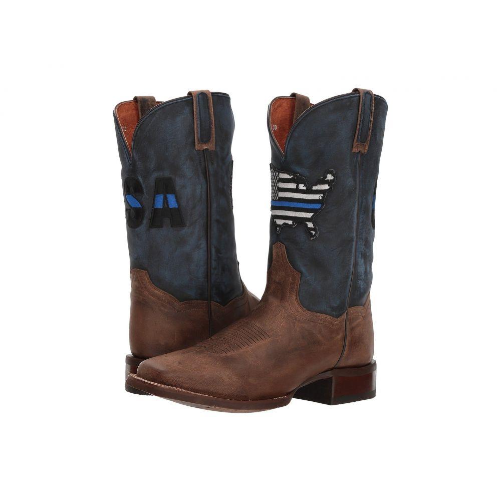 ダンポスト Dan Post メンズ ブーツ シューズ・靴【Thin Blue Line】Sand/Blue Leather