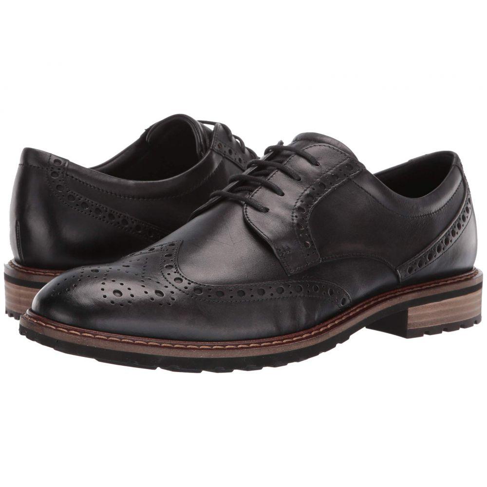 エコー ECCO メンズ 革靴・ビジネスシューズ ウイングチップ シューズ・靴【Vitrus I Wingtip Tie】Moonless