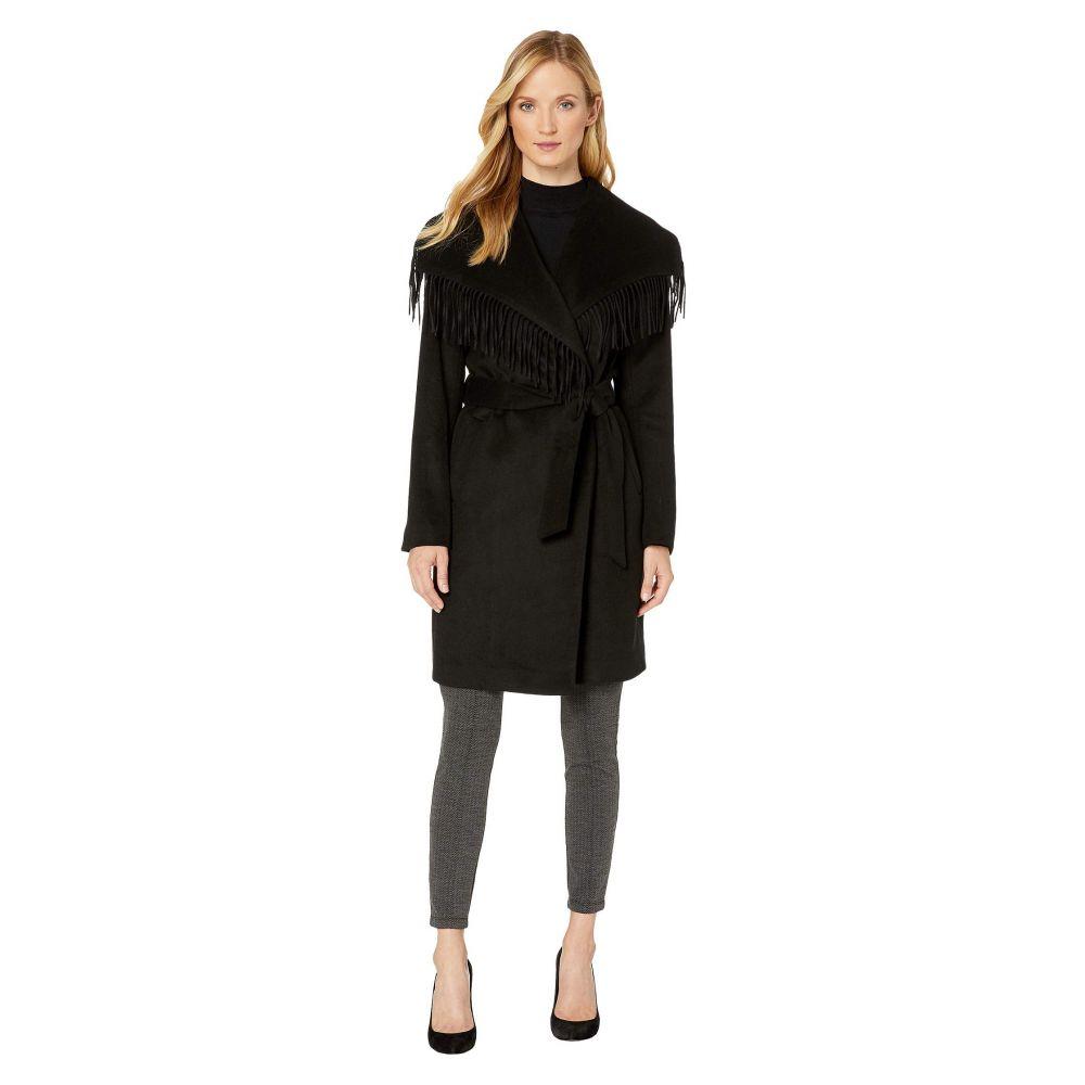 ラルフ ローレン LAUREN Ralph Lauren レディース コート アウター【Wool Fringe Coat】Black