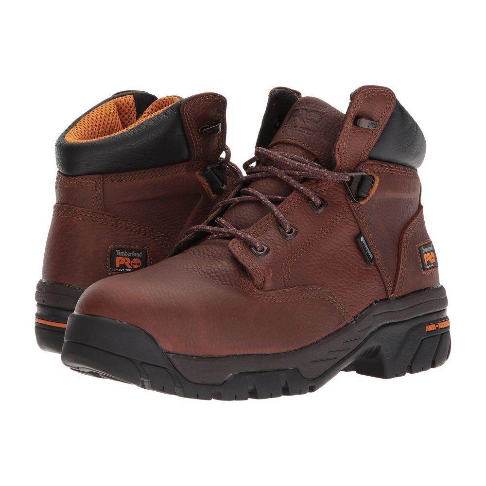 ティンバーランド Timberland PRO メンズ ブーツ シューズ・靴【Helix 6' Alloy Toe】Brown Full-Grain Leather