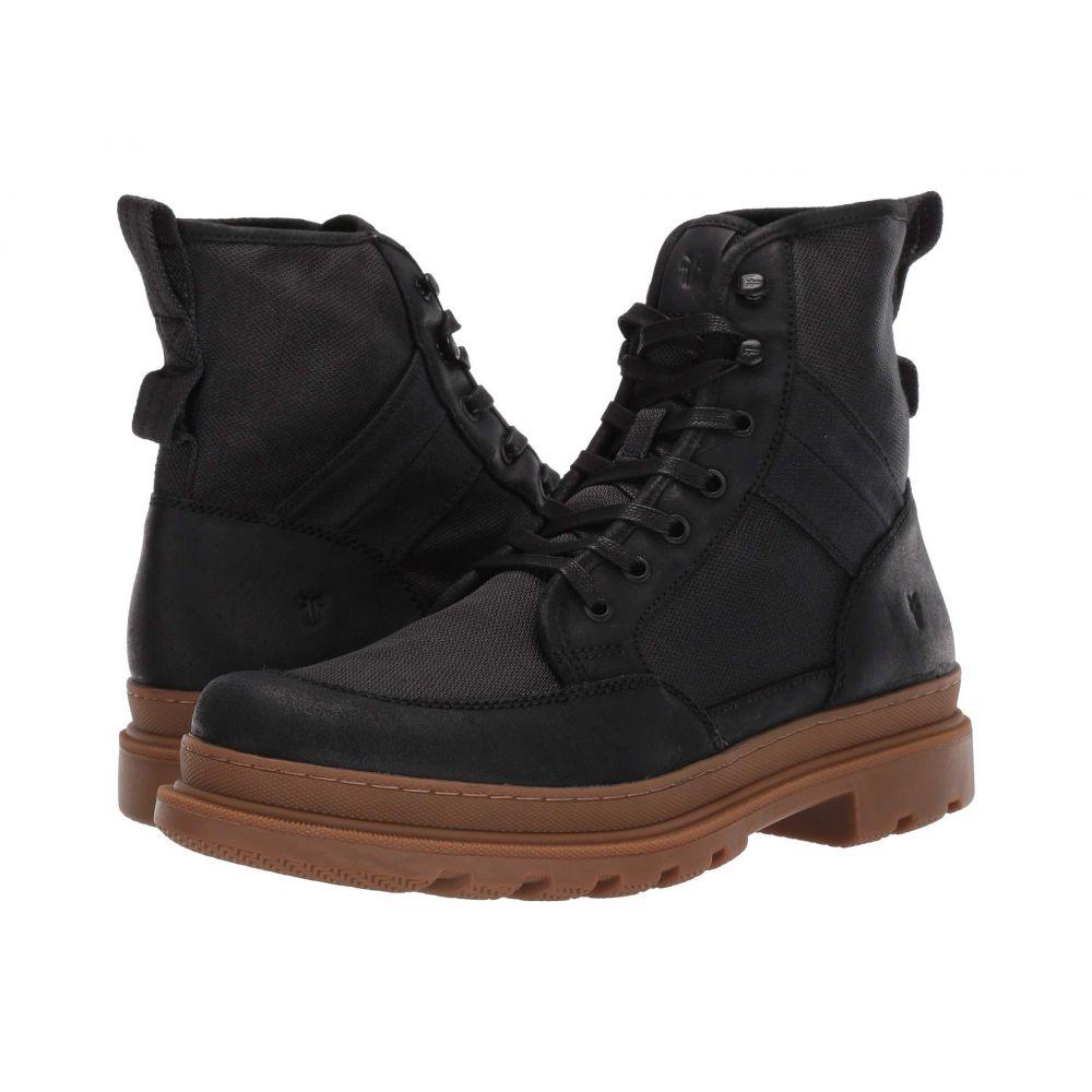 フライ Frye メンズ ブーツ シューズ・靴【Scout Boot】Black Suede/Waxy Canvas
