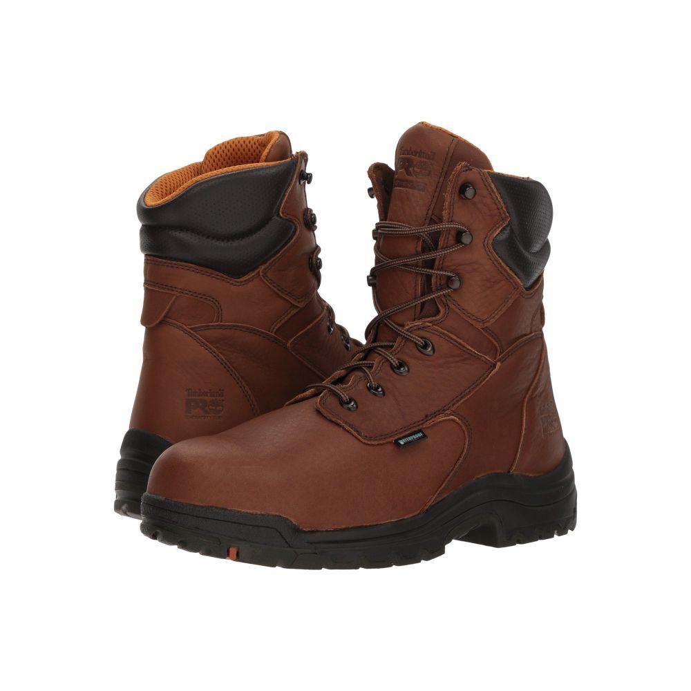 ティンバーランド Timberland PRO メンズ ブーツ シューズ・靴【Titan 8' Waterproof Safety Toe】Cappucino Full-Grain Leather