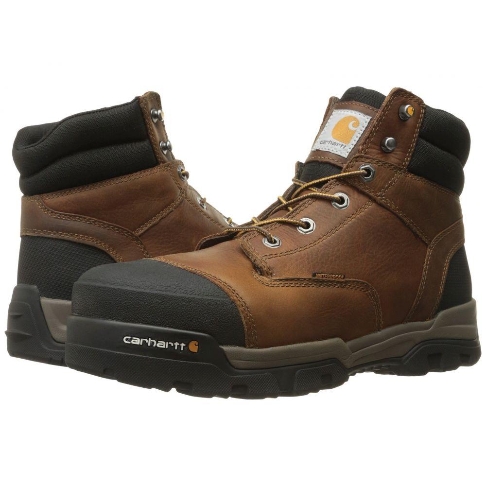 カーハート Carhartt メンズ ブーツ ワークブーツ シューズ・靴【6' Ground Force Waterproof Composite Toe Work Boot】Brown Oil Tanned Leather