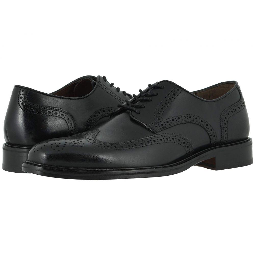ジョンストン&マーフィー Johnston & Murphy メンズ 革靴・ビジネスシューズ ウイングチップ シューズ・靴【Daley Wing Tip】Black Full Grain