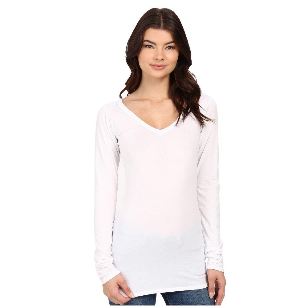ラメイド LAmade レディース Tシャツ Vネック トップス【Fitted V-Neck Tee】White
