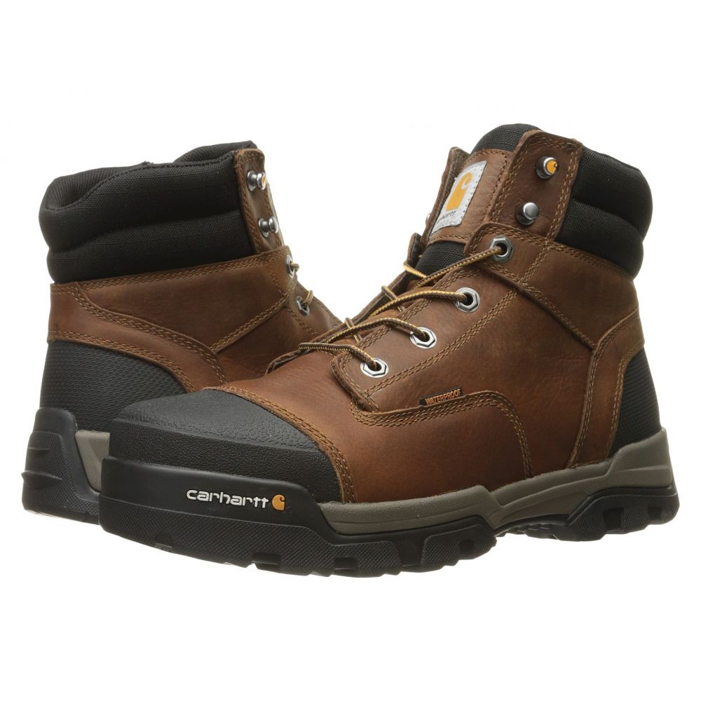 カーハート Carhartt メンズ ブーツ ワークブーツ シューズ・靴【6' Ground Force Waterproof Non-Safety Toe Work Boot】Brown Oil Tanned Leather
