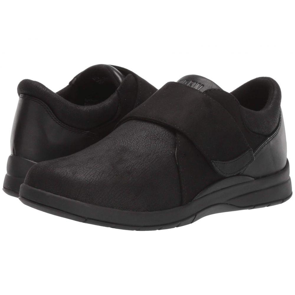 ドリュー Drew レディース ローファー・オックスフォード シューズ・靴【Moonwalk】Black Stretch/Leather