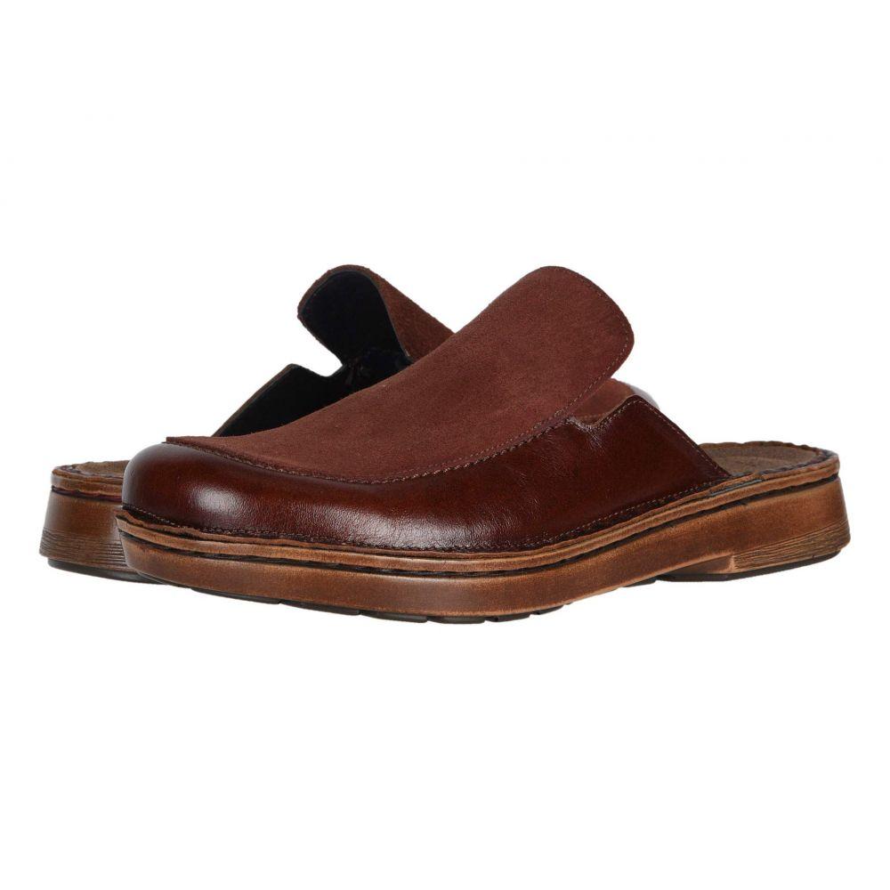 ナオト Naot レディース スリッポン・フラット シューズ・靴【Procida】Luggage Brown Leather/Rust Suede
