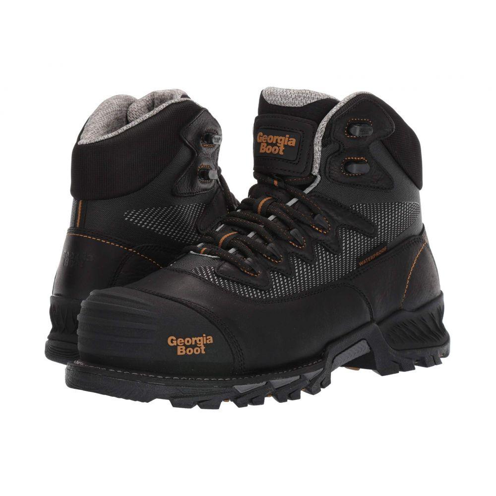ジョージアブーツ Georgia Boot メンズ ブーツ シューズ・靴【Rumbler 6' Composite Toe Waterproof Hiker】Black