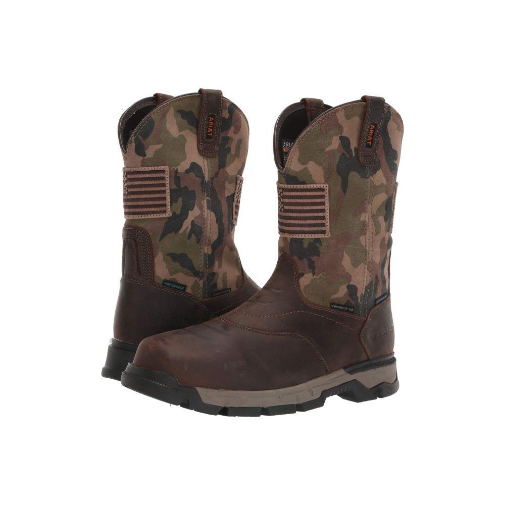 アリアト Ariat メンズ ブーツ シューズ・靴【Rebar(TM) Flex Western Patriot H2O Composite Toe】Brown/Camo