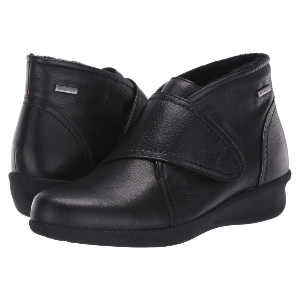 アラヴォン Aravon レディース ブーツ シューズ・靴【Fairlee Instep Strap Waterproof】Black Leather
