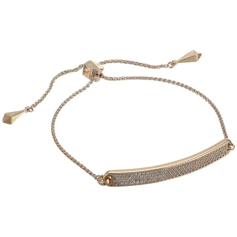 マイケル コース Michael Kors レディース ブレスレット ジュエリー・アクセサリー【Precious Metal-Plated Sterling Silver Pave Slider Bracelet】Rose Gold