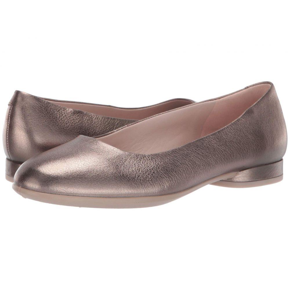 エコー ECCO レディース スリッポン・フラット シューズ・靴【Anine Ballerina】Stone Metallic Cow Leather