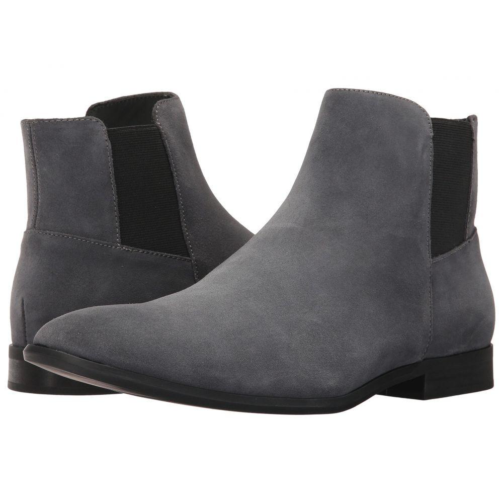 カルバンクライン Calvin Klein メンズ ブーツ シューズ・靴【Larry】Grey Calf Suede
