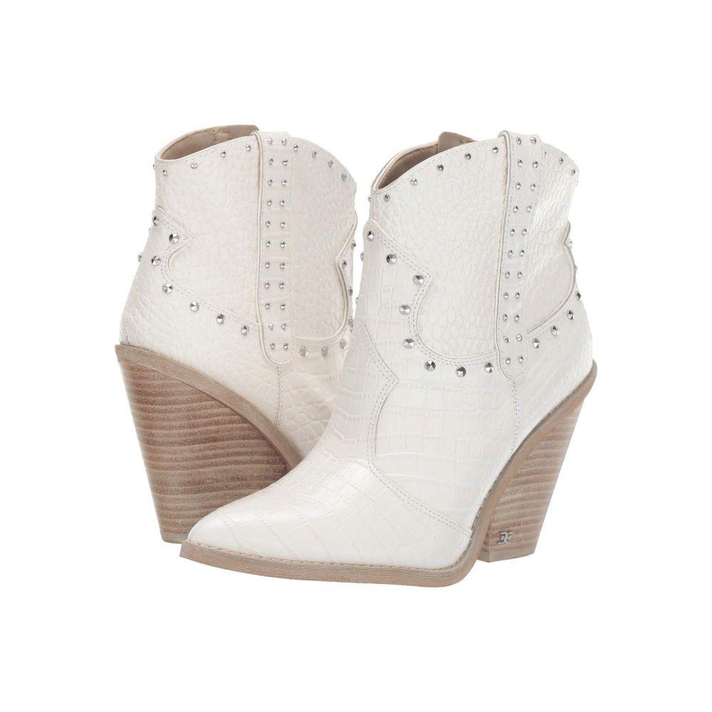 サム エデルマン Sam Edelman レディース ブーツ シューズ・靴【Iris 2】Bright White Kenya Croco Embossed Leather
