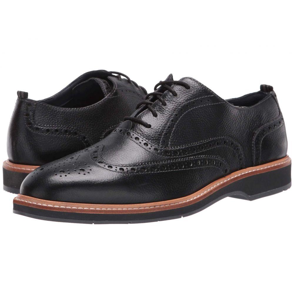 コールハーン Cole Haan メンズ 革靴・ビジネスシューズ シューズ・靴【Morris Wing Oxford】Black Tumble