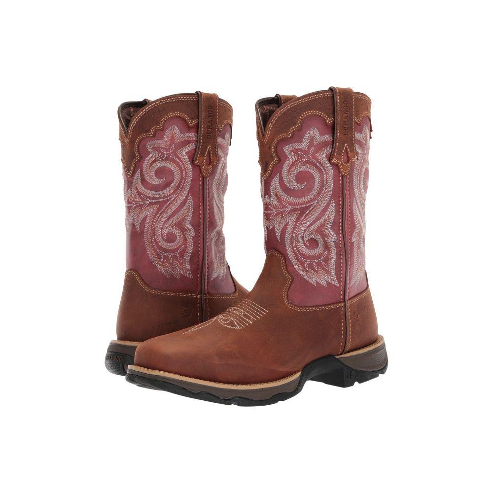 デュランゴ Durango レディース ブーツ スクエアトゥ シューズ・靴【Lady Rebel 10' WP Composite Square Toe】Briar Brown/Rusty Red