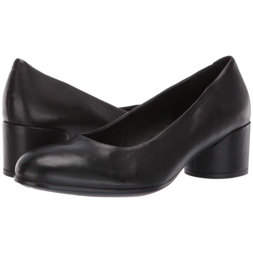 エコー ECCO レディース パンプス シューズ・靴【Shape 35 Mod Block Pump】Black Calf Leather