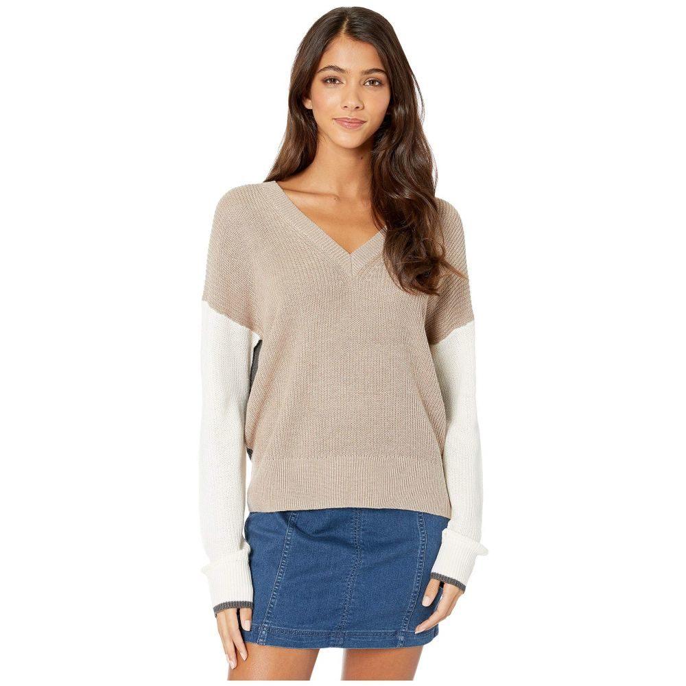 スプレンディッド Splendid レディース ニット・セーター トップス【Gemma Color Block Pullover Sweater】Heather Toast