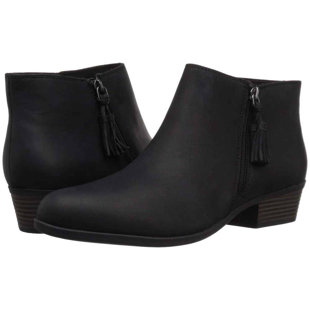 クラークス Clarks レディース ブーツ シューズ・靴【Addiy Terri】Black Leather