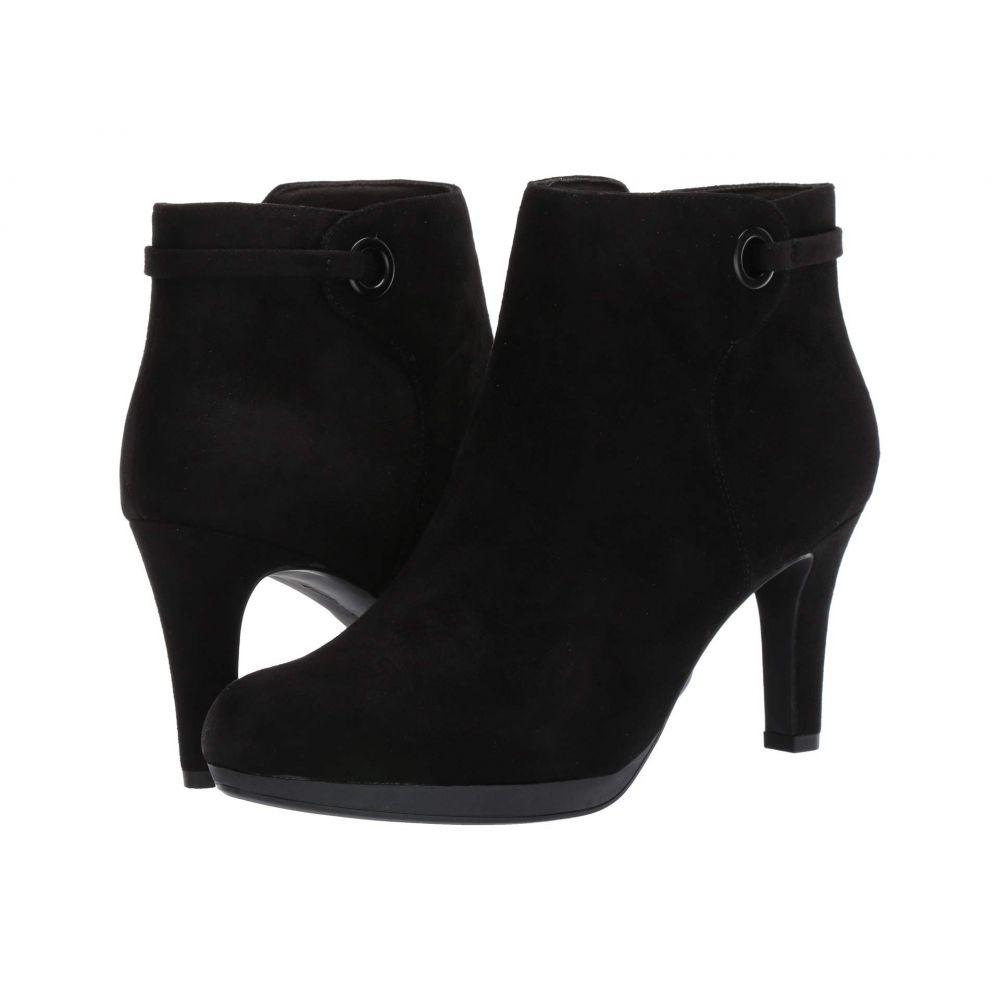 クラークス Clarks レディース ブーツ シューズ・靴【Adriel Mae】Black Suede/Textile Combi