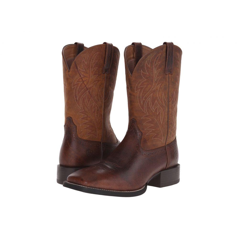アリアト Ariat メンズ ブーツ スクエアトゥ シューズ・靴【Sport Western Wide Square Toe】Fiddle Brown/Powder Brown