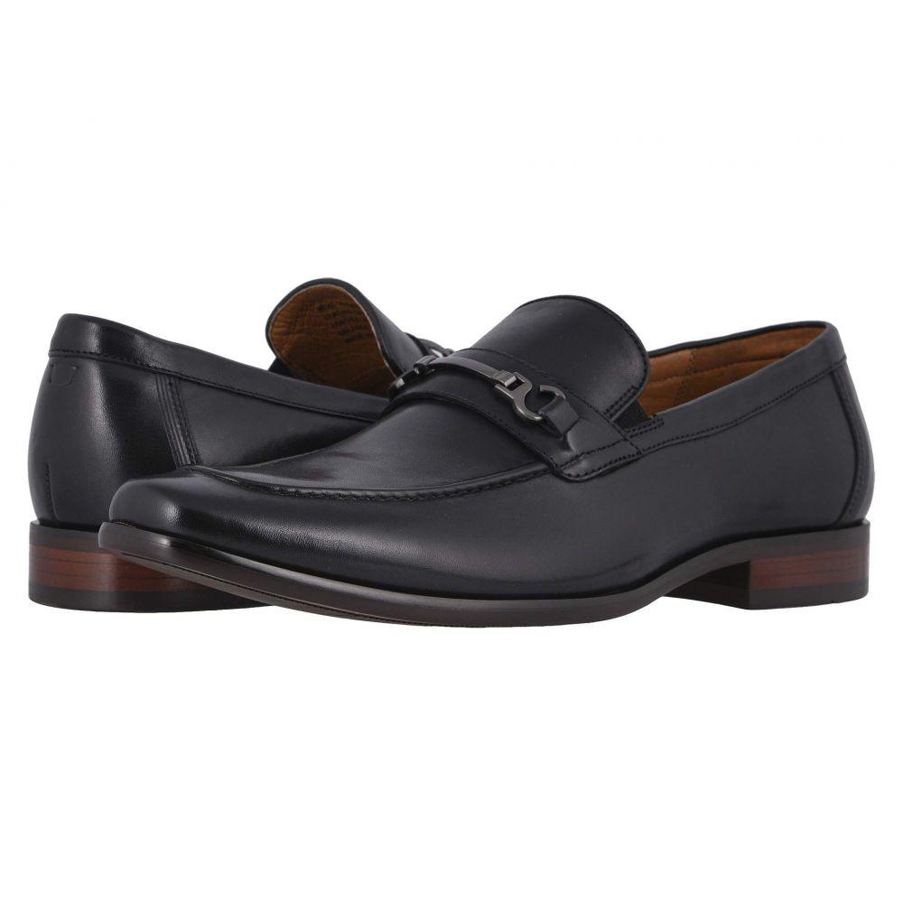 フローシャイム Florsheim メンズ スリッポン・フラット モックトゥ シューズ・靴【Postino Moc Toe Bit Slip-On】Black Smooth