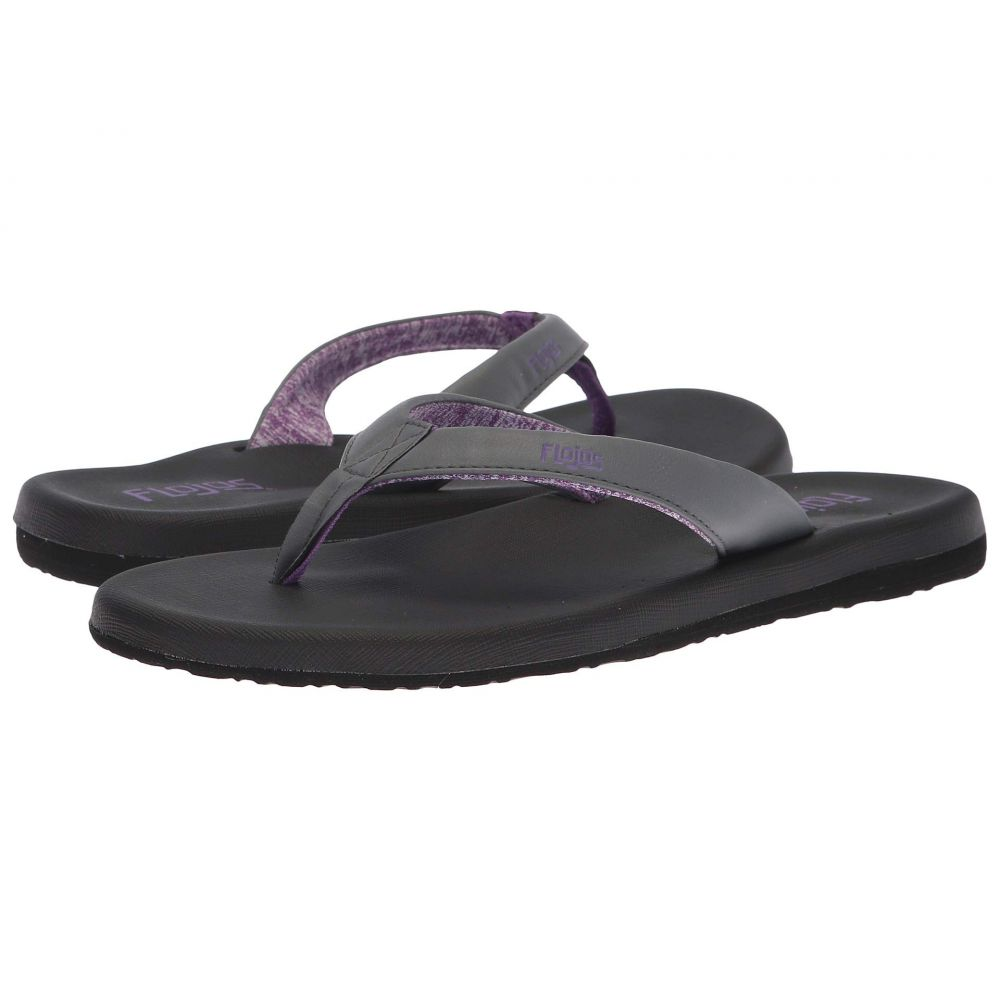 フロジョス Flojos レディース ビーチサンダル シューズ・靴【Jersey】Charcoal/Purple