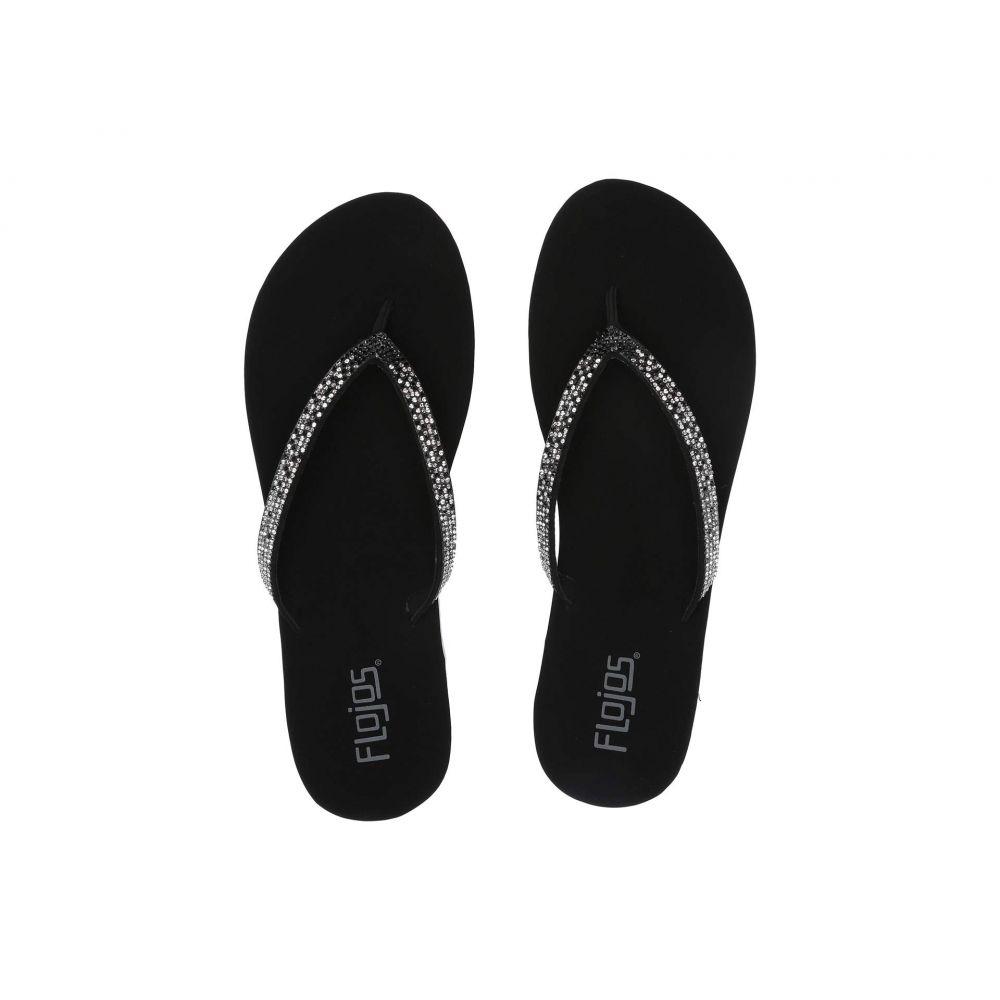 フロジョス Flojos レディース ビーチサンダル シューズ・靴【Spark】Black