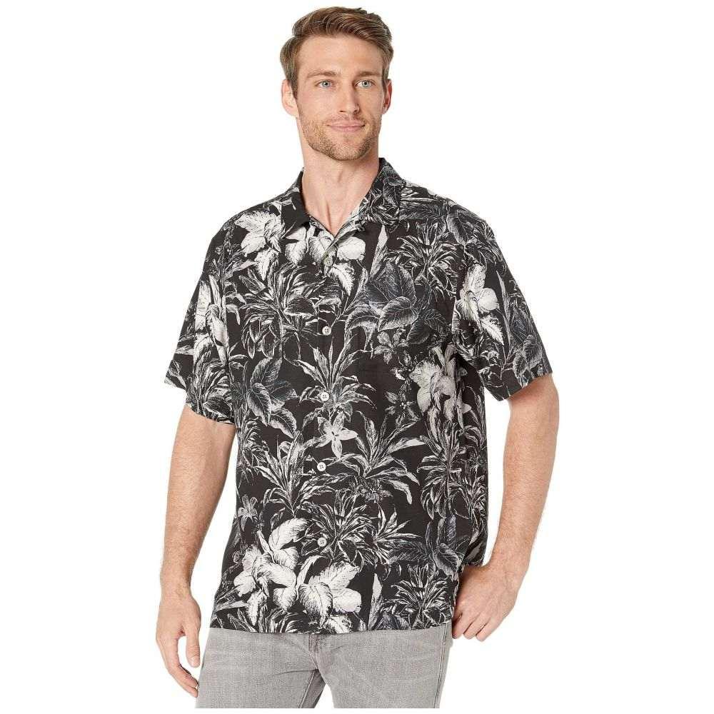 トミー バハマ Tommy Bahama メンズ シャツ トップス【Elegant Sketch Camp Shirt】Black