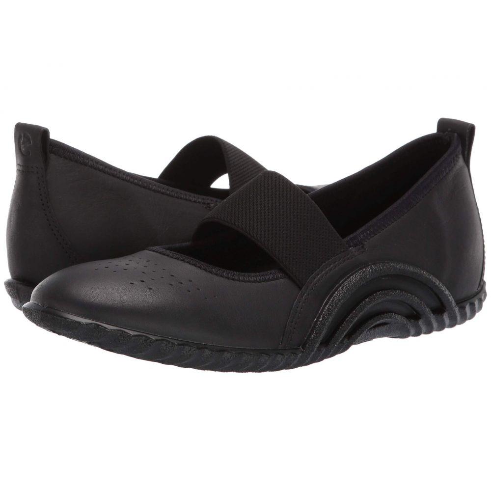 エコー ECCO レディース スリッポン・フラット シューズ・靴【Vibration 1.0 Mary Jane】Black Yak Leather