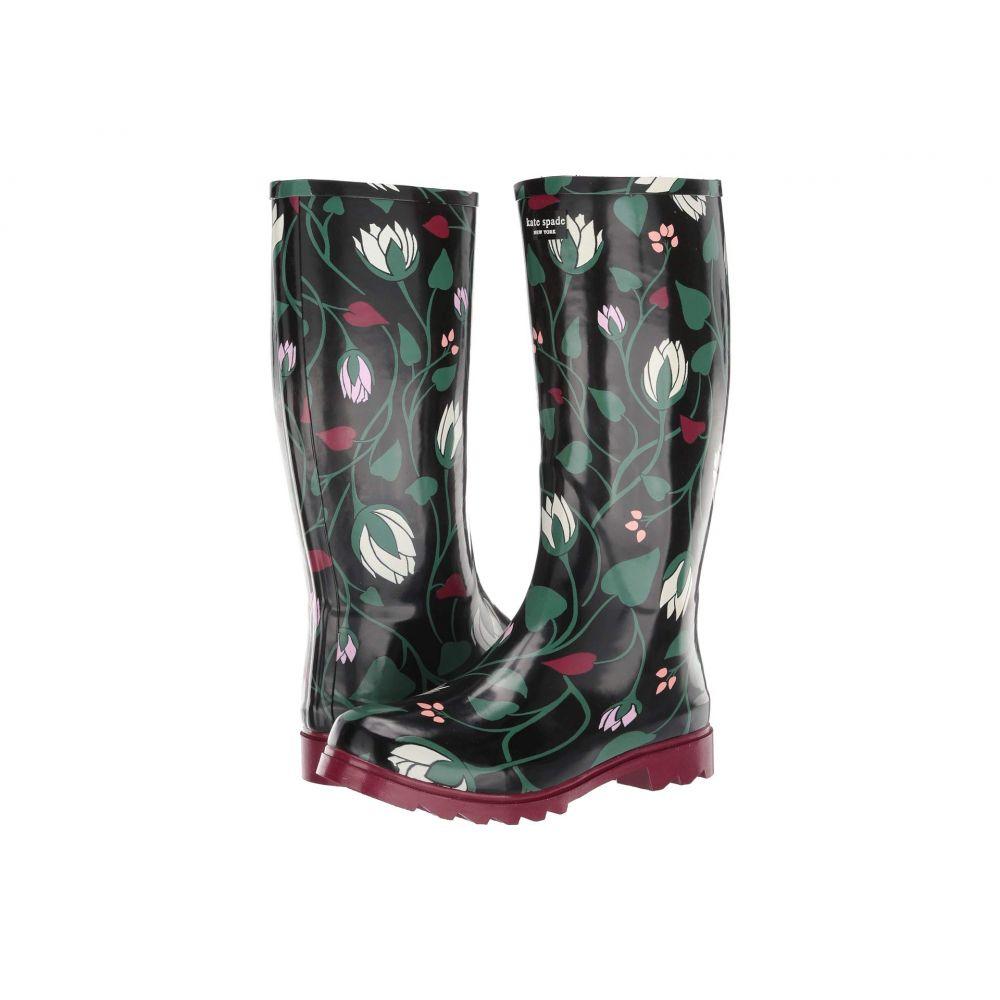 ケイト スペード Kate Spade New York レディース レインシューズ・長靴 シューズ・靴【Renata】Black Deco Bloom