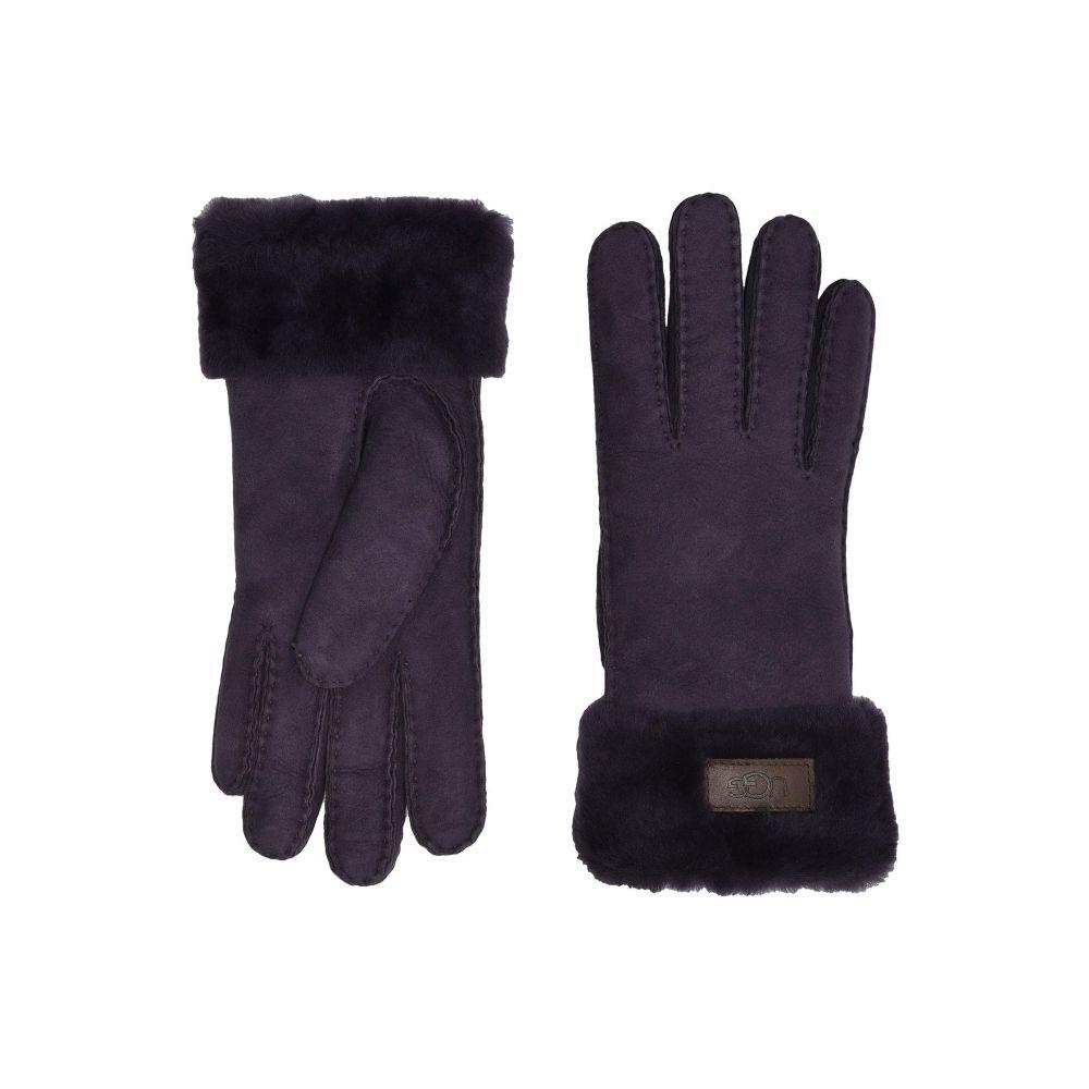 アグ UGG レディース 手袋・グローブ 【Turn Cuff Water Resistant Sheepskin Gloves】Nightshade