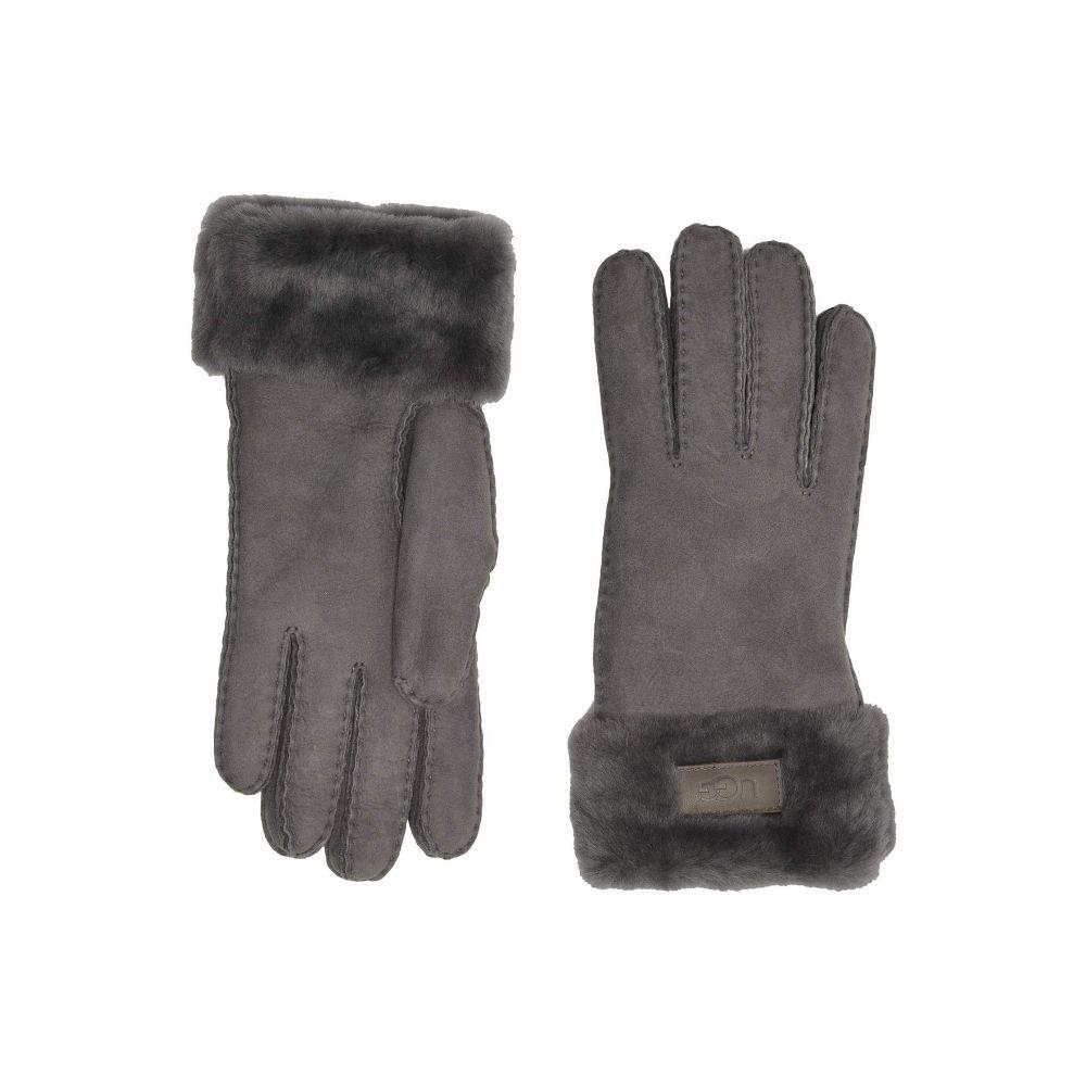 アグ UGG レディース 手袋・グローブ 【Turn Cuff Water Resistant Sheepskin Gloves】Charcoal