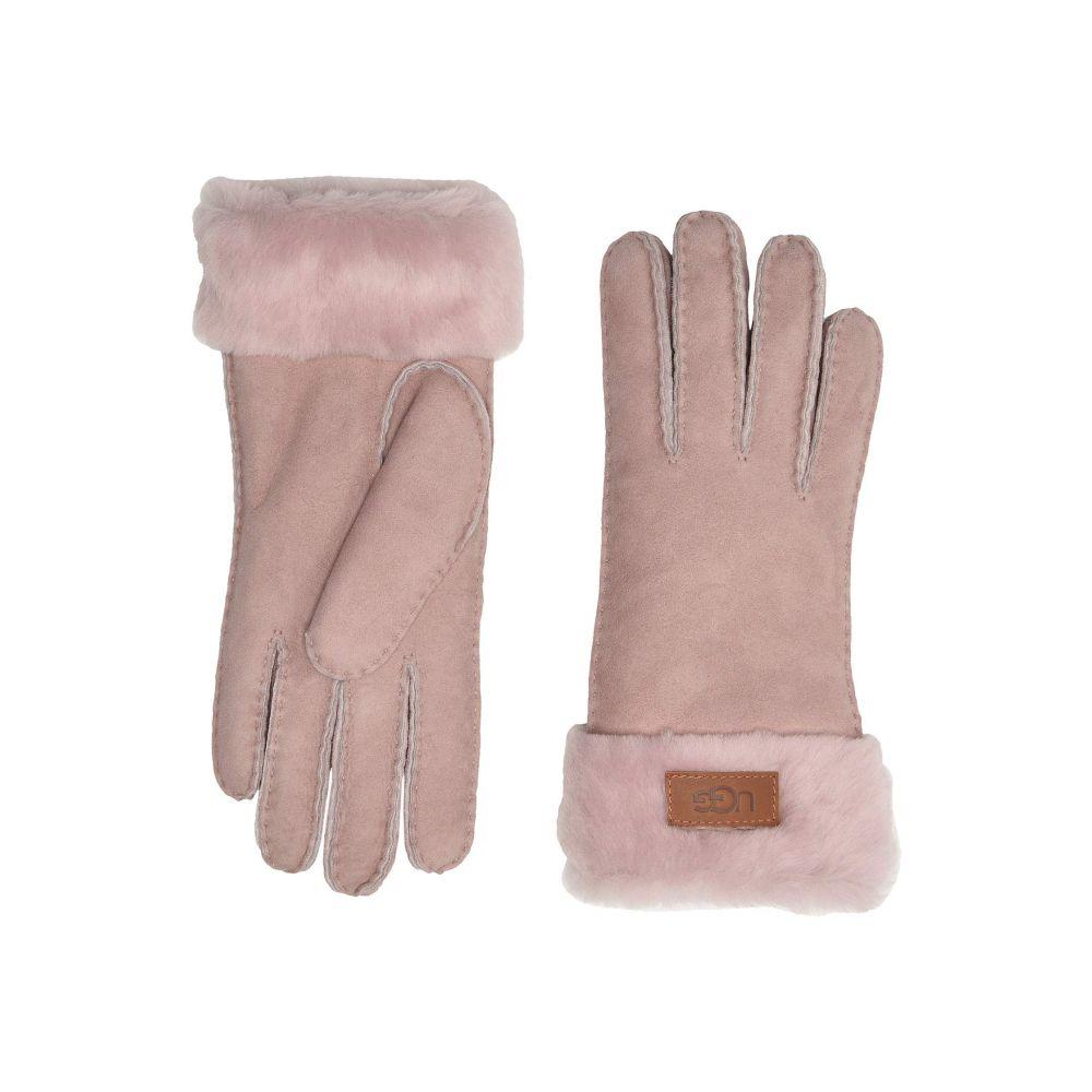 アグ UGG レディース 手袋・グローブ 【Turn Cuff Water Resistant Sheepskin Gloves】Pink Crystal