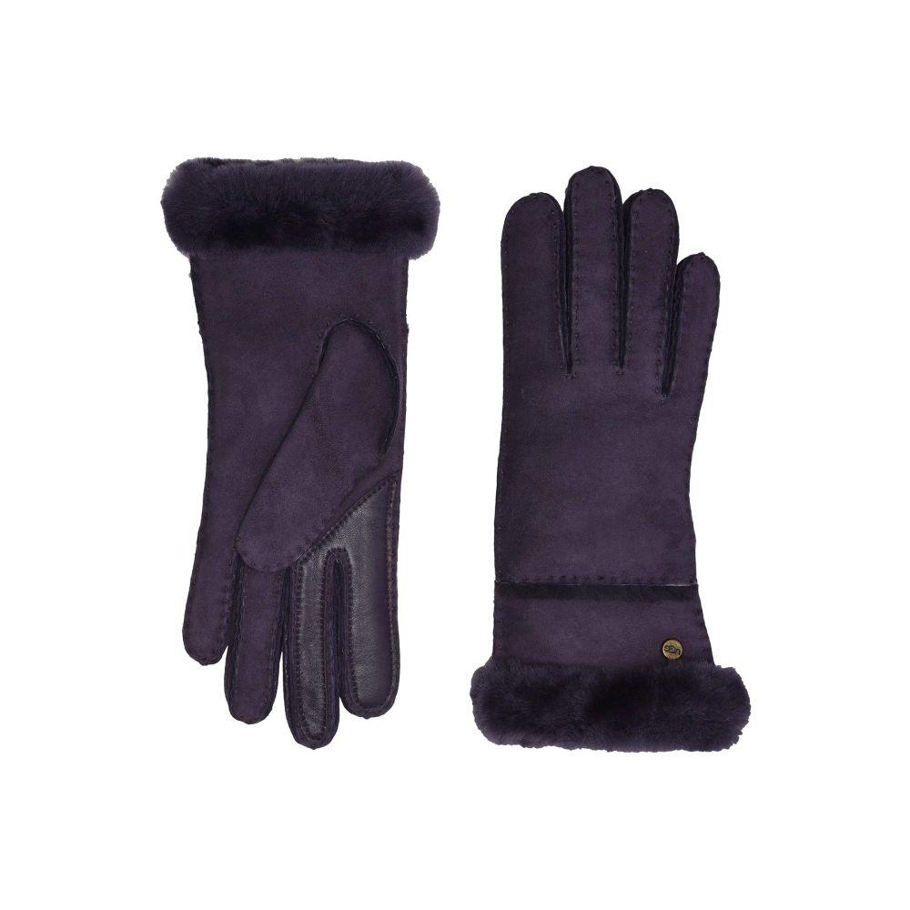 アグ UGG レディース 手袋・グローブ 【Seamed Tech Water Resistant Sheepskin Gloves】Nightshade