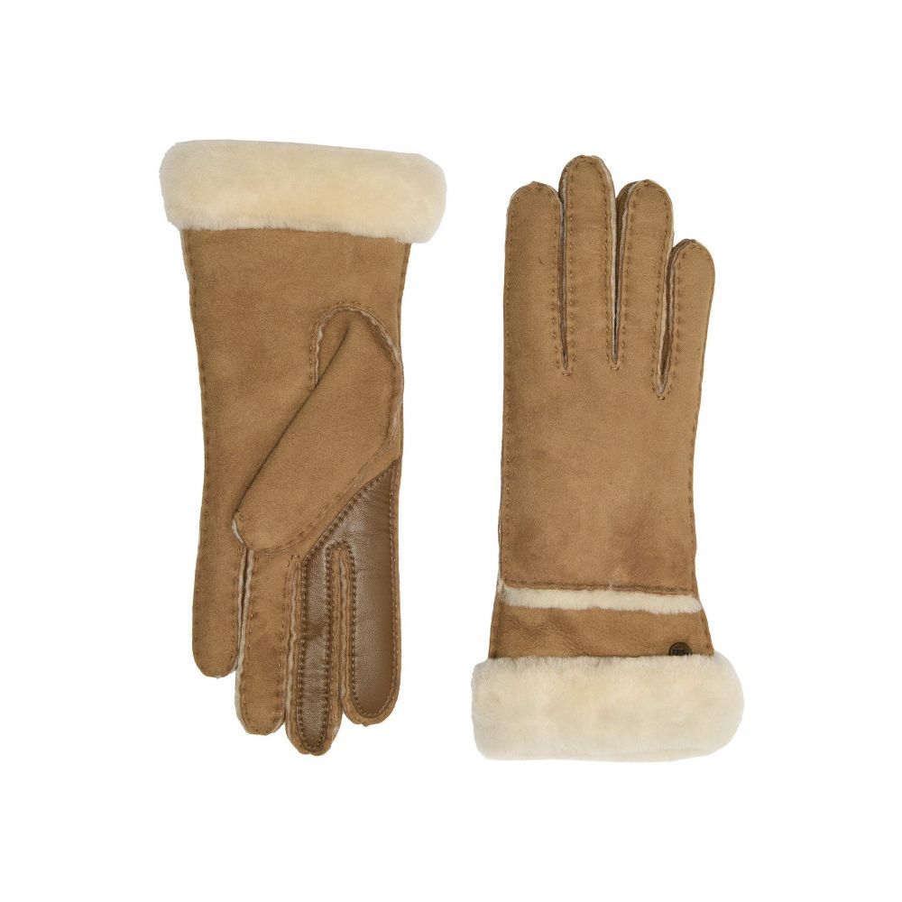 アグ UGG レディース 手袋・グローブ 【Seamed Tech Water Resistant Sheepskin Gloves】Chestnut