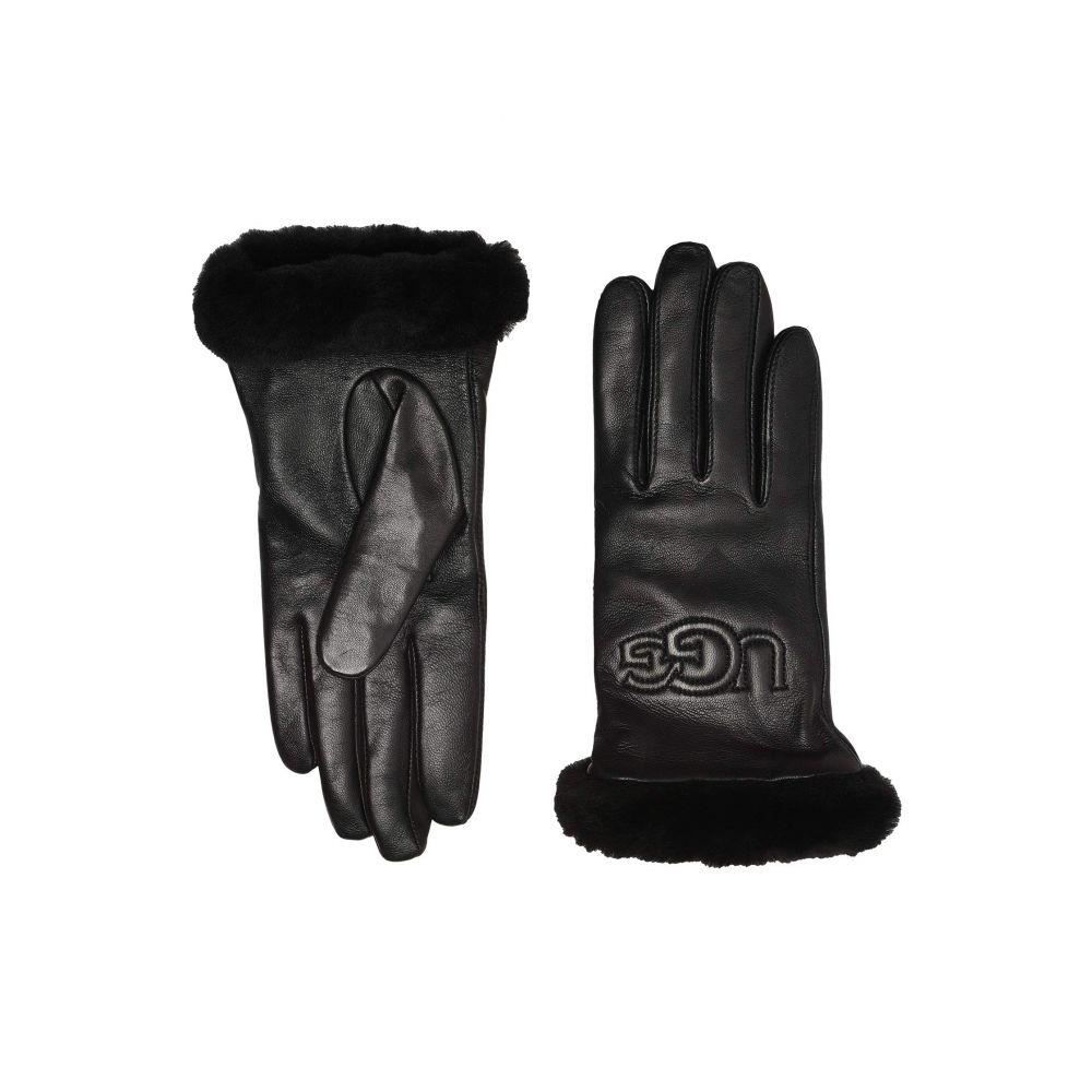 アグ UGG レディース 手袋・グローブ 【Classic Leather Logo Tech Gloves】Black