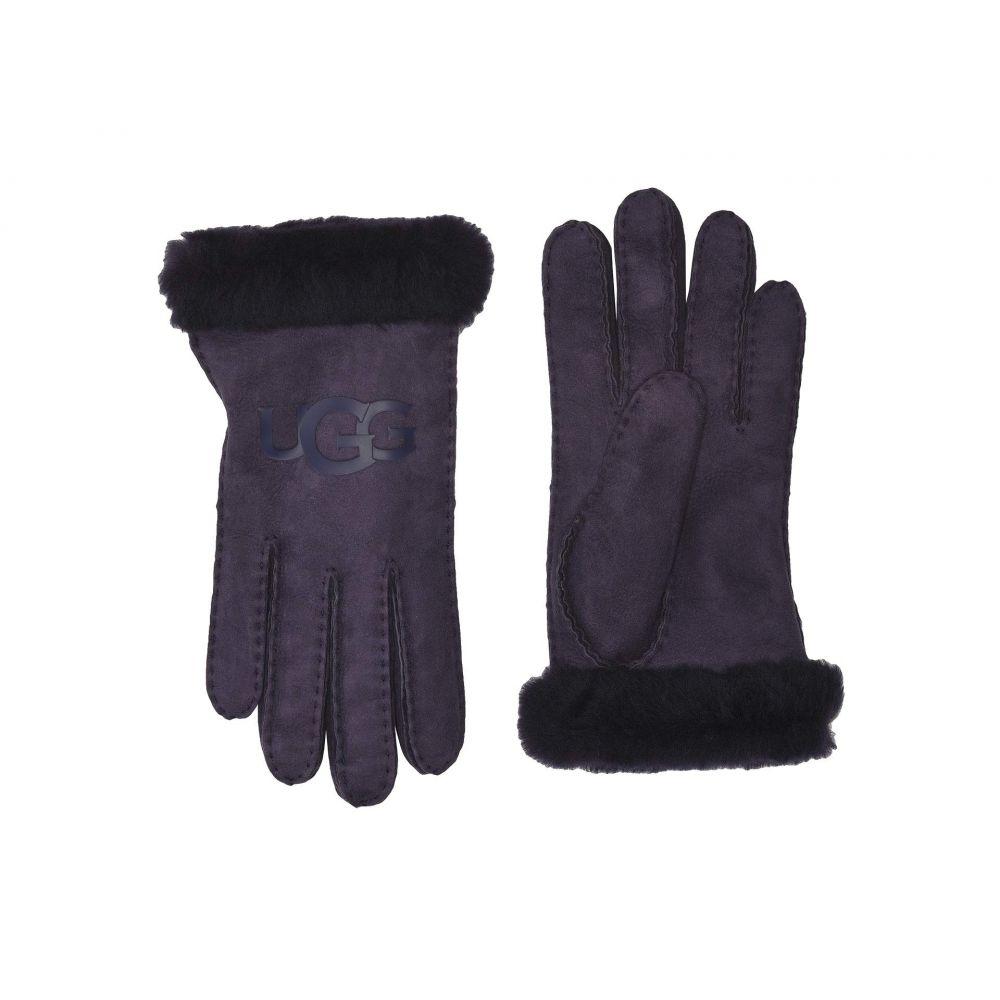 アグ UGG レディース 手袋・グローブ 【Water Resistant Sheepskin Logo Gloves】Nightshade