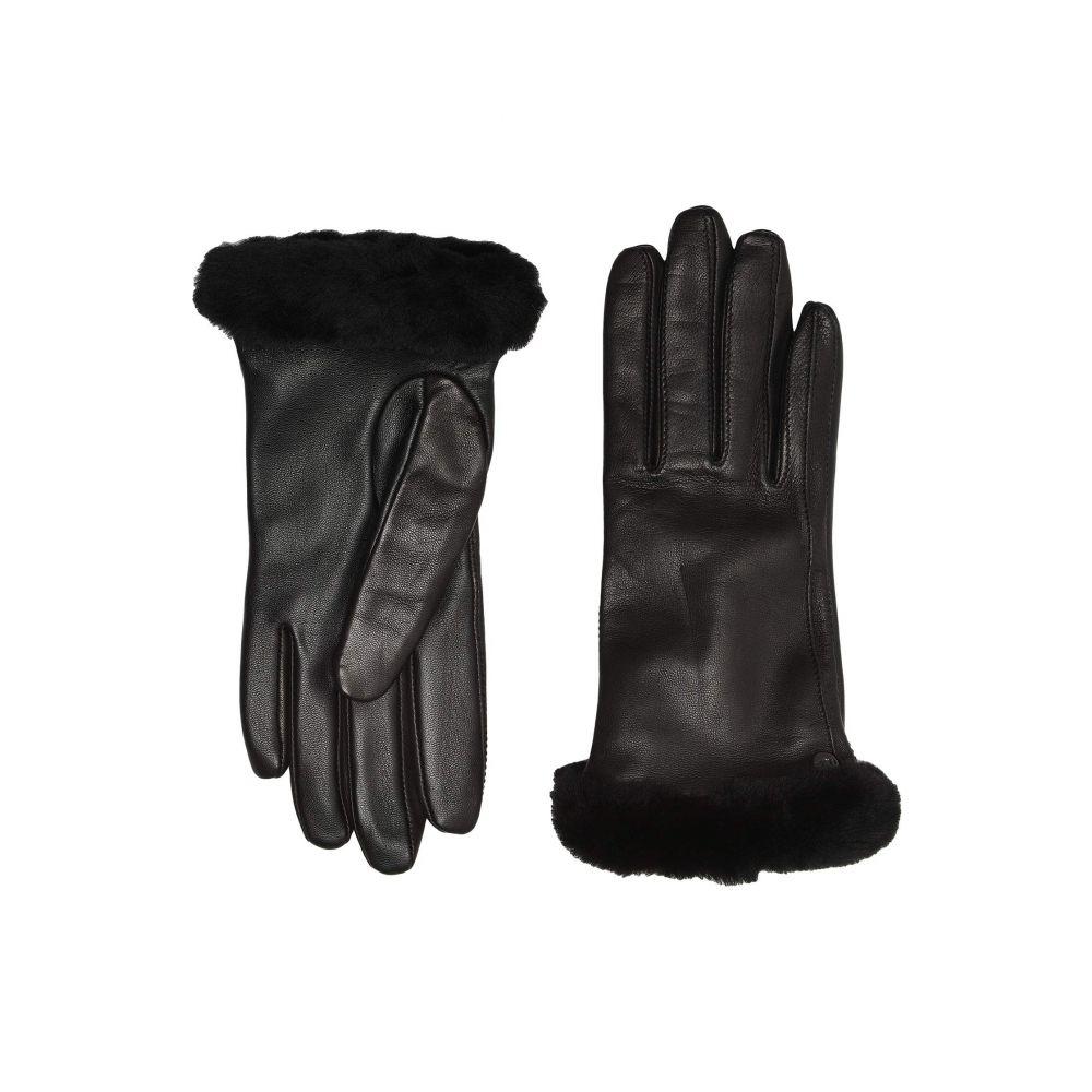 アグ UGG レディース 手袋・グローブ 【Classic Leather Shorty Tech Gloves】Black