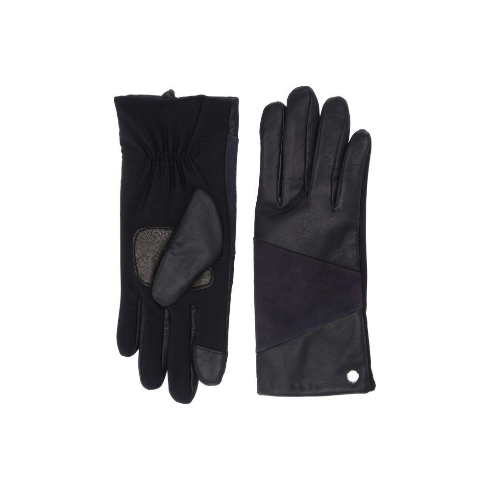 エコー Echo Design レディース 手袋・グローブ 【Leather Block Superfit Gloves】Navy