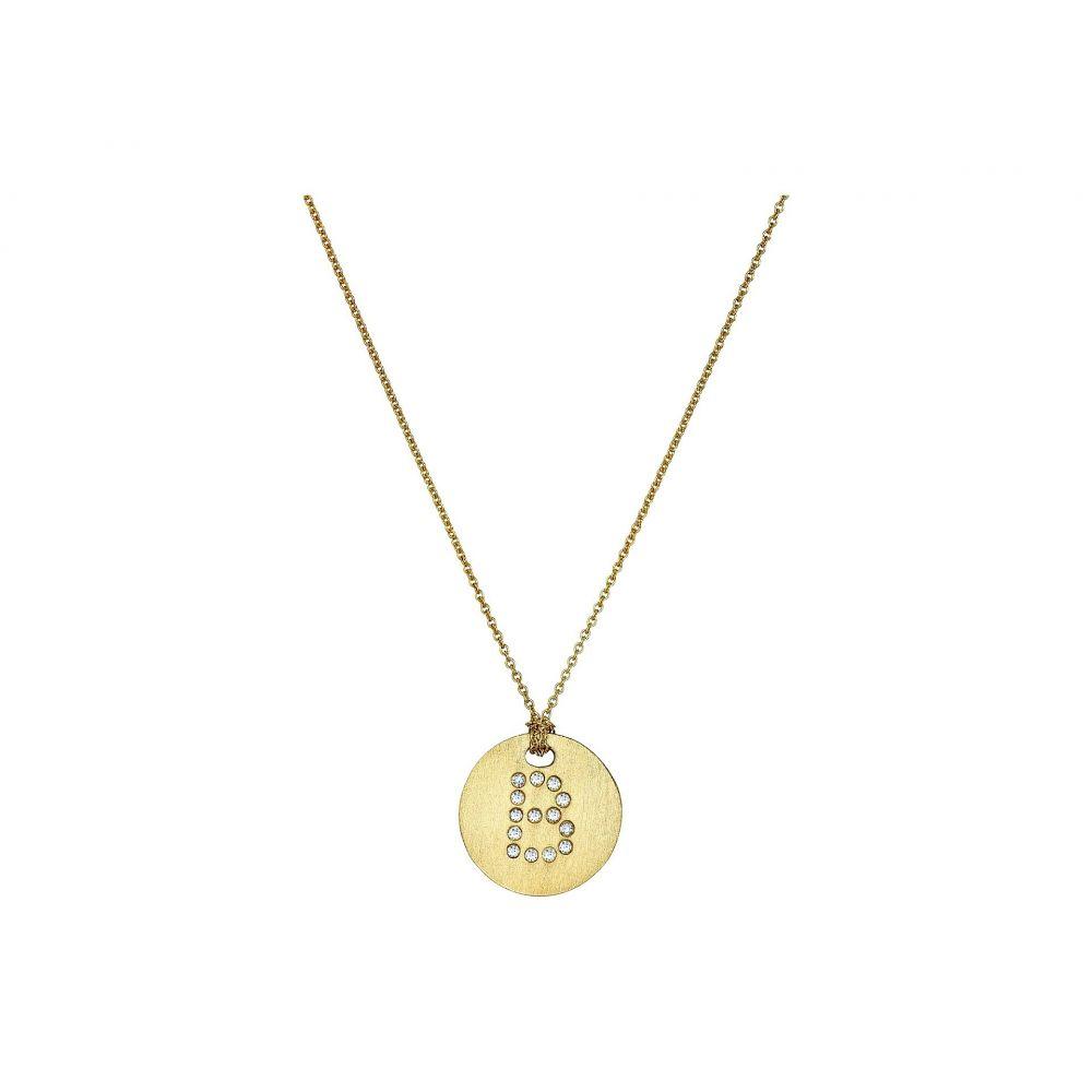 ロベルトコイン Roberto Coin レディース ネックレス ジュエリー・アクセサリー【Tiny Treasures 18K Yellow Gold Initial B Pendant Necklace】Yellow Gold