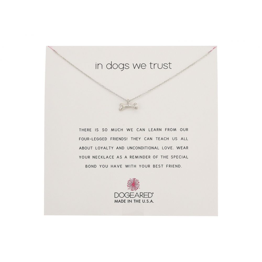 ドギャード Dogeared レディース ネックレス ジュエリー・アクセサリー【In Dogs We Trust, Dog Bone Necklace】Sterling Silver