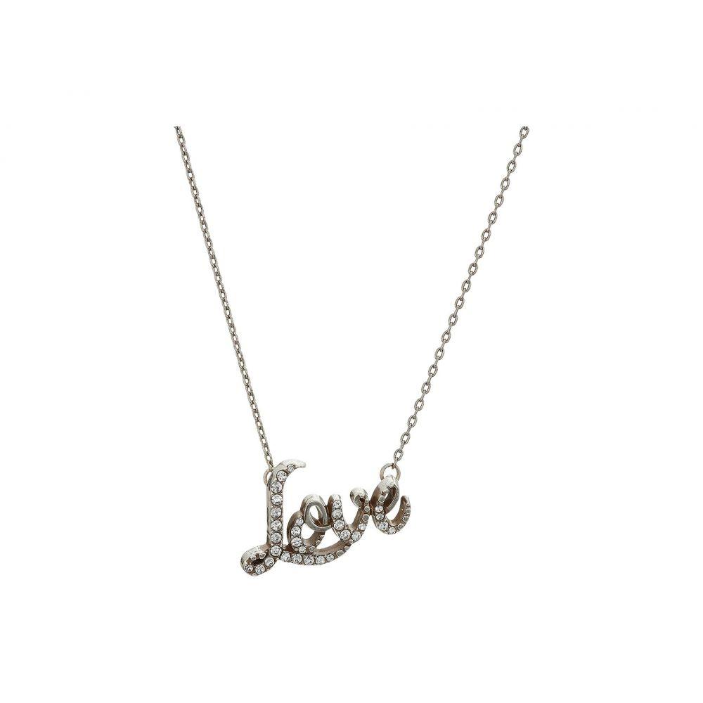 ブライトン Brighton レディース ネックレス ジュエリー・アクセサリー【Love Script Necklace】Crystal
