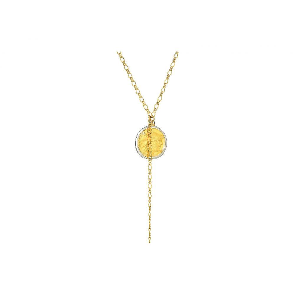 ケネスジェイレーン Kenneth Jay Lane レディース ネックレス ジュエリー・アクセサリー【32' Gold Chain with Rhodium/Satin Gold Coin Pendant Necklace】Rhodium/Gold