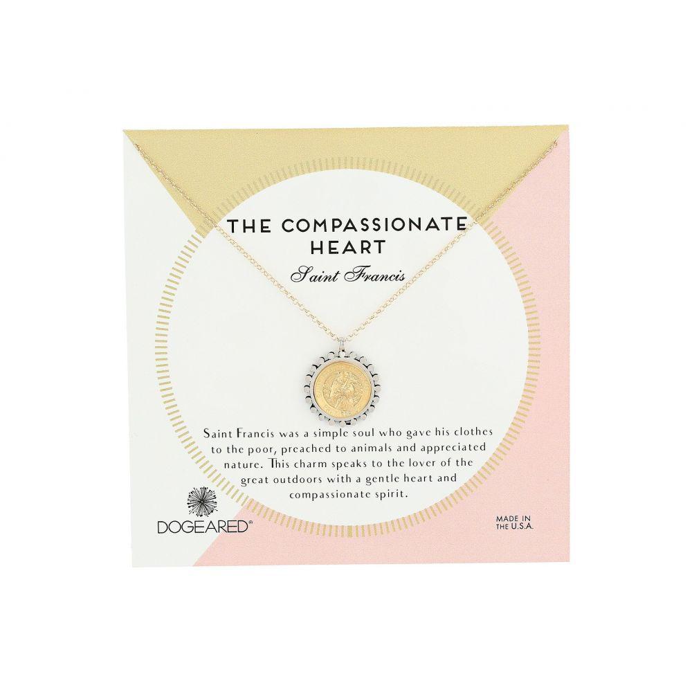 ドギャード Dogeared レディース ネックレス ハート ジュエリー・アクセサリー【The Compassionate Heart Two-Tone St. Francis Necklace】Gold Dipped