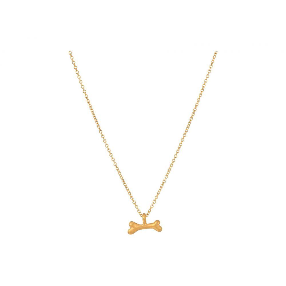 ドギャード Dogeared レディース ネックレス ジュエリー・アクセサリー【Woof, Dog Bone Pendent Necklace】Gold