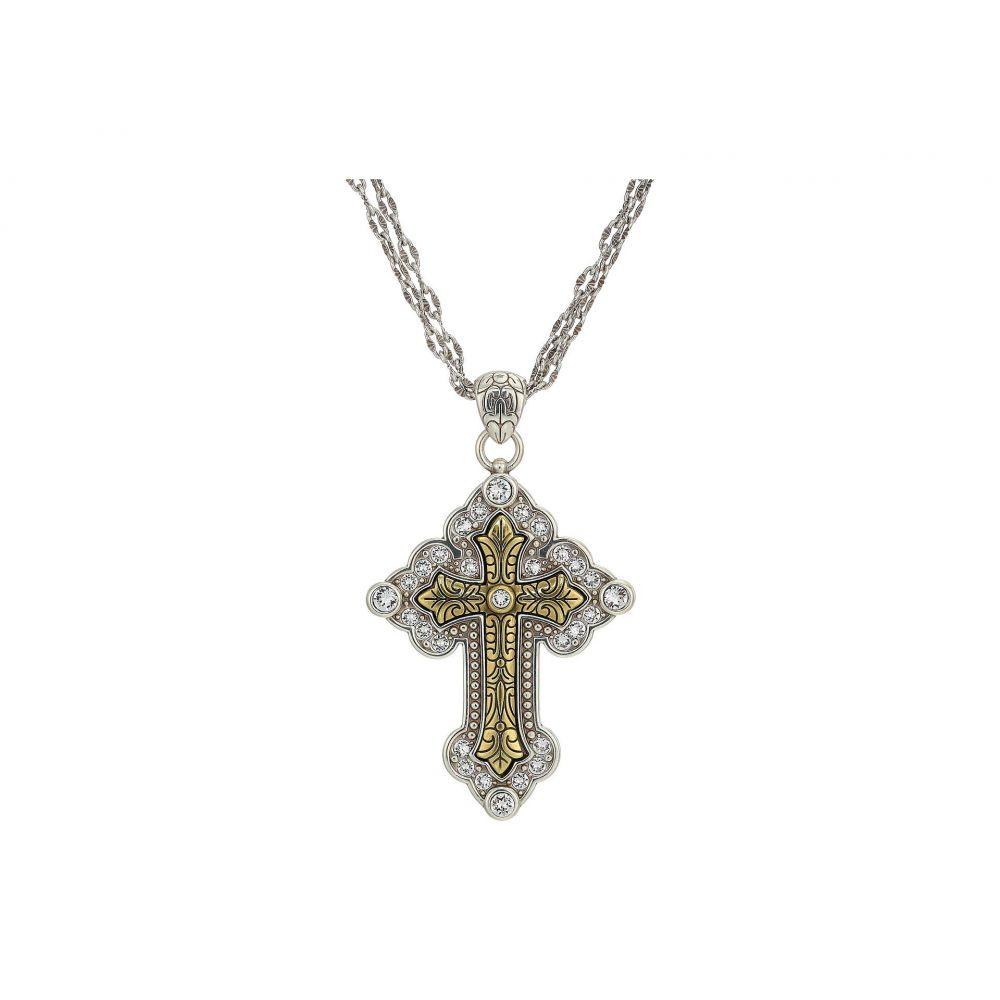 ブライトン Brighton レディース ネックレス ジュエリー・アクセサリー【Greek Large Convertible Cross Necklace】Two-Tone